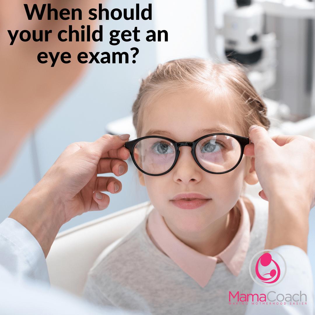 When do Kids Need Their First Eye Exam?
